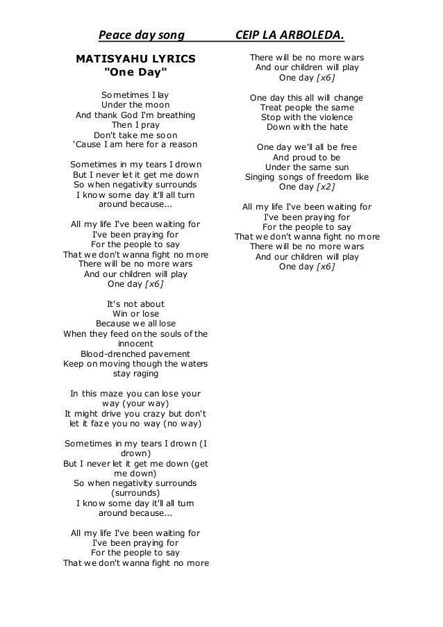 Matisyahu lyrics English