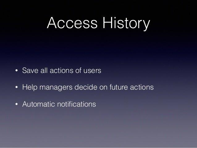 Access History