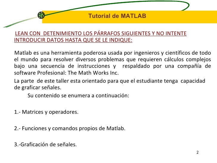 Matlab Slide 2