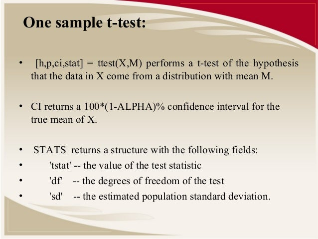 one sample to population t test Worked example - one sample z-test you work in the hr  t-tests - population  variance unknown one sample t-tests.