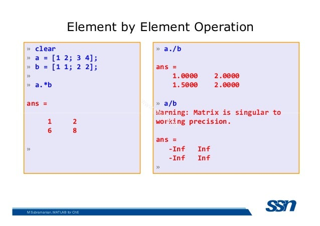 Matlab for Chemical Engineering