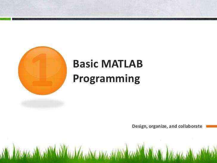 Matlab Introduction Slide 3
