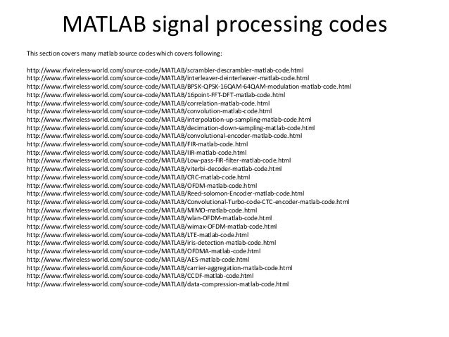 Matlab source codes section | Download MATLAB source code freerce-cod…