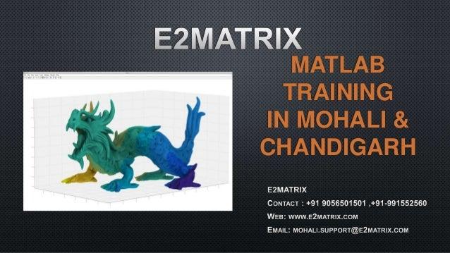MATLAB TRAINING IN MOHALI & CHANDIGARH
