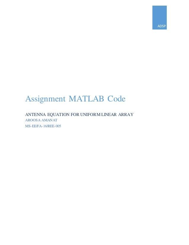 Antenna Equation for uniform Linear Array