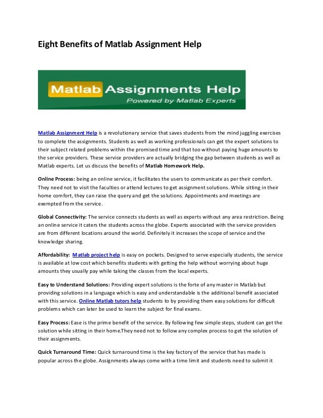 matlab assignment experts review