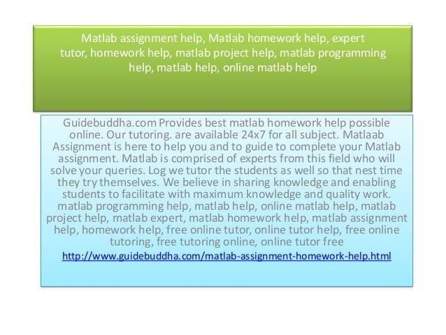 Expert homework help