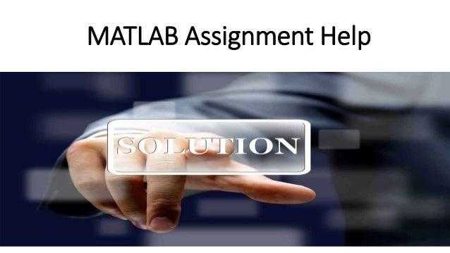 Matlab Assignment Help Service