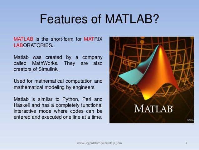 matlab homework solutions matlab assignment help x ass  com 3 features of matlab