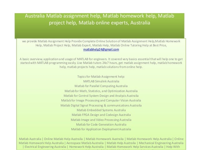 Matlab Assignment Helper in Australia