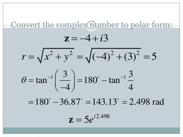 Matlab complex numbers