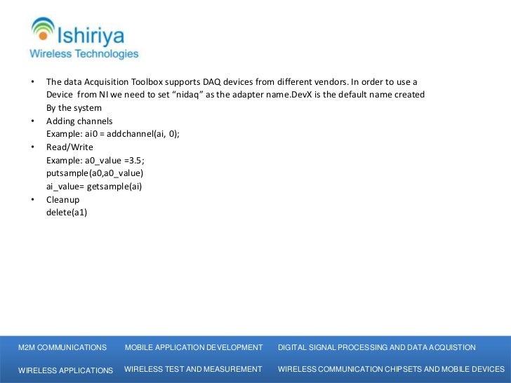 Ishiriya Wireless Technologies-MATLAB Data Acquisition