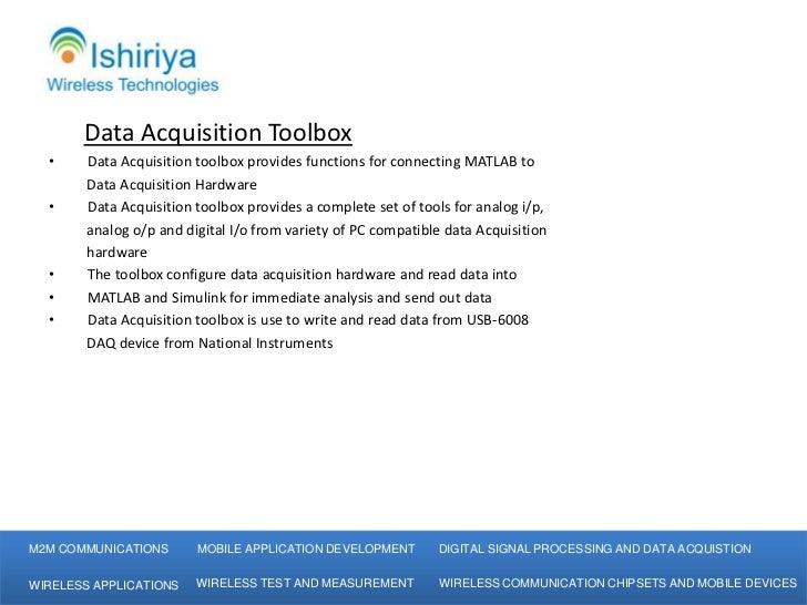 Ishiriya Wireless Technologies Matlab Data Acquisition