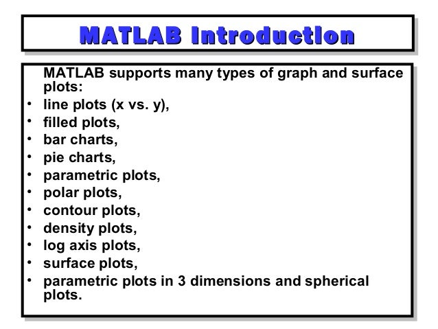 Matlab day 1: Introduction to MATLAB