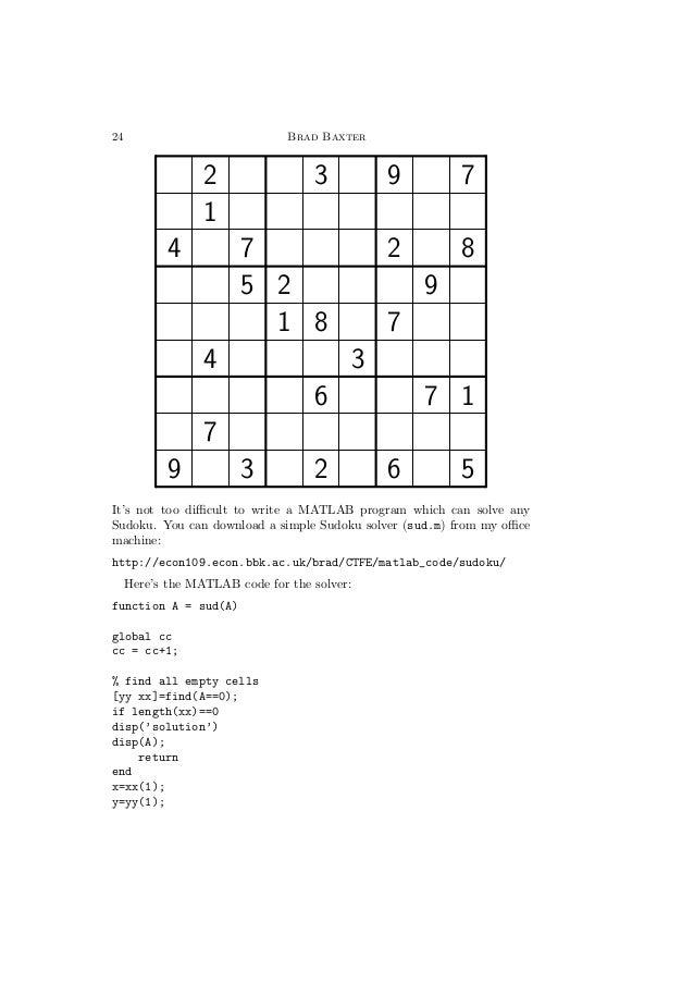 Sudoku solver matlab