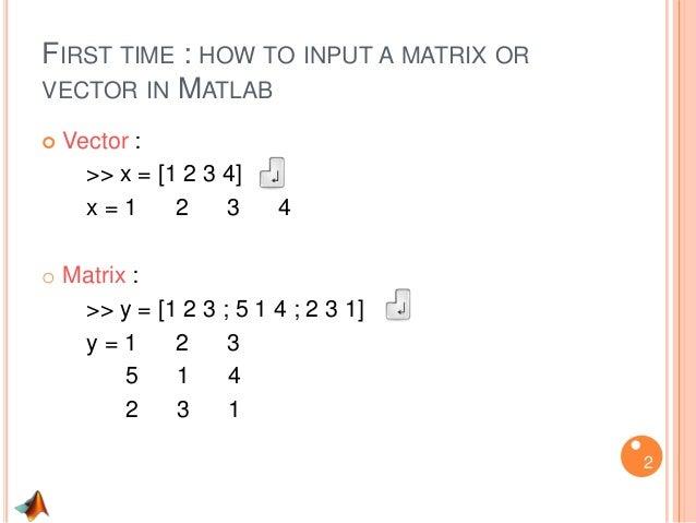 Intro to Matlab programming