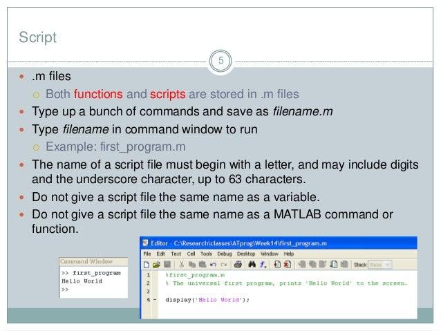 Matlab Programming Tips Part 1