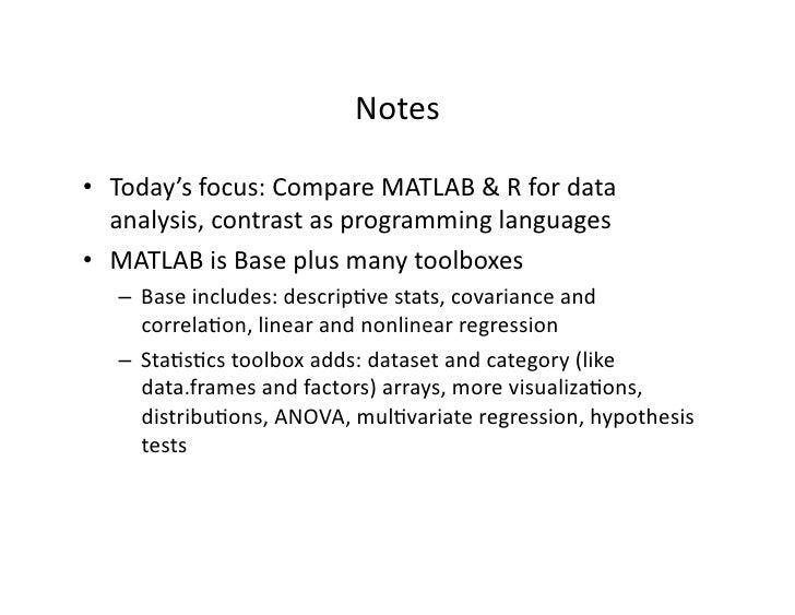 Matlab/R Dictionary