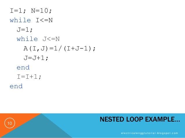 MATLAB Programming - Loop Control Part 2