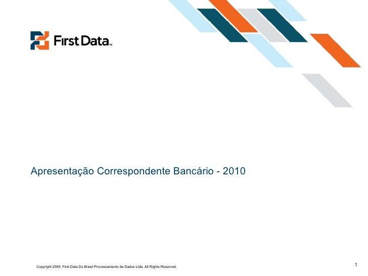 Apresentação Correspondente Bancário - 2010