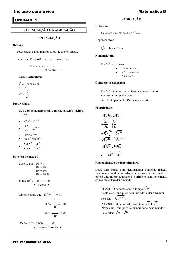 Inclusão para a vida                                                                                            Matemática...