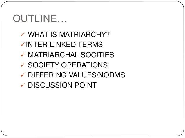 Matriarchal societies