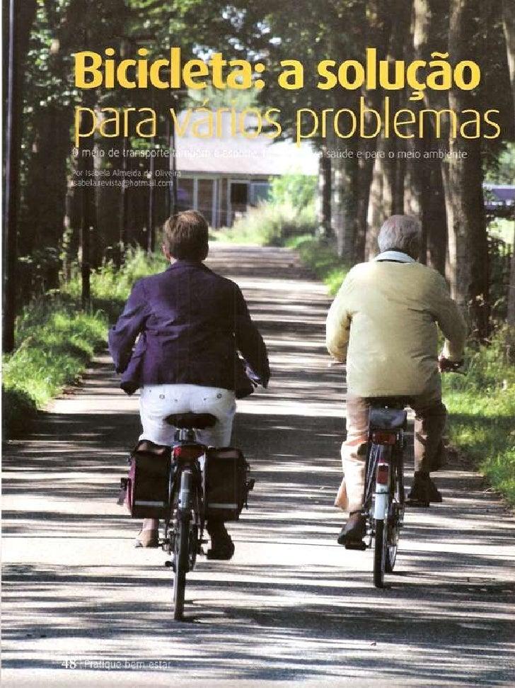 Matéria sobre sustentabilidade e bicicleta