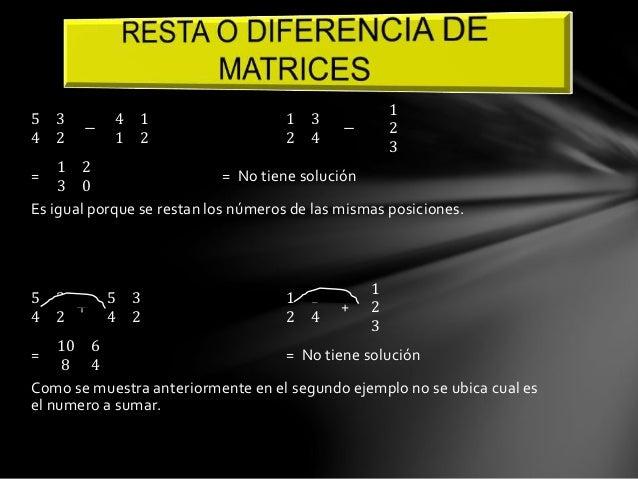 Para poder multiplicar dos matrices se tiene que mirar que las columnas de  la primera matriz sean igual a las filas de la...