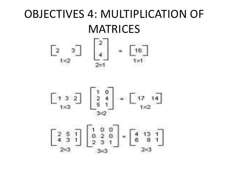 OBJECTIVES 5: IDENTITY MATRICES              4 X4        3X3    4 X4   3X3