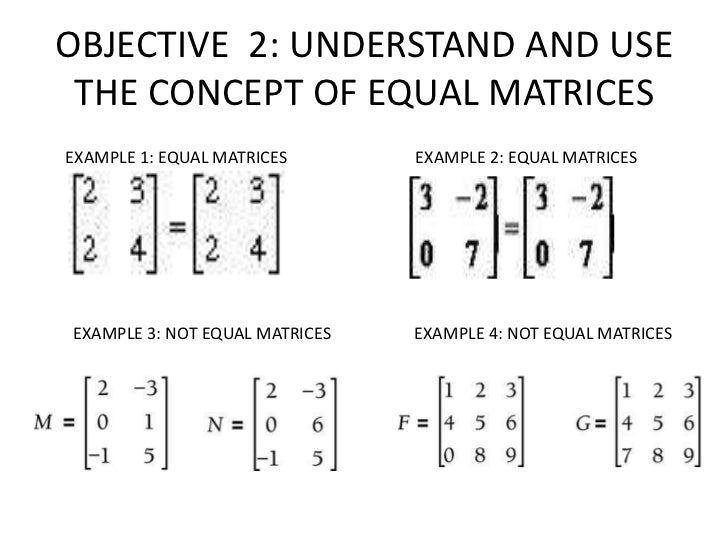 OBJECTIVE 3: PERFORM ADDITIONAND SUBTRACTION OF MATRICES