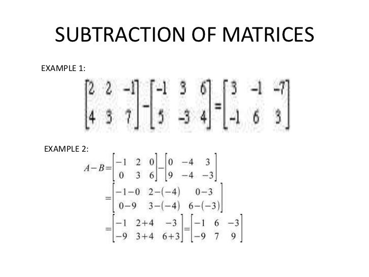OBJECTIVES 4: MULTIPLICATION OF           MATRICES
