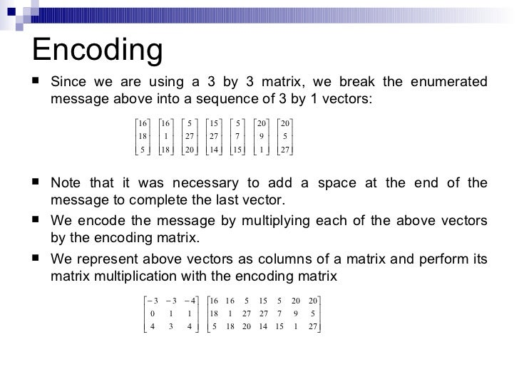 CRYPTOGRAPHY USING MATRICES PDF