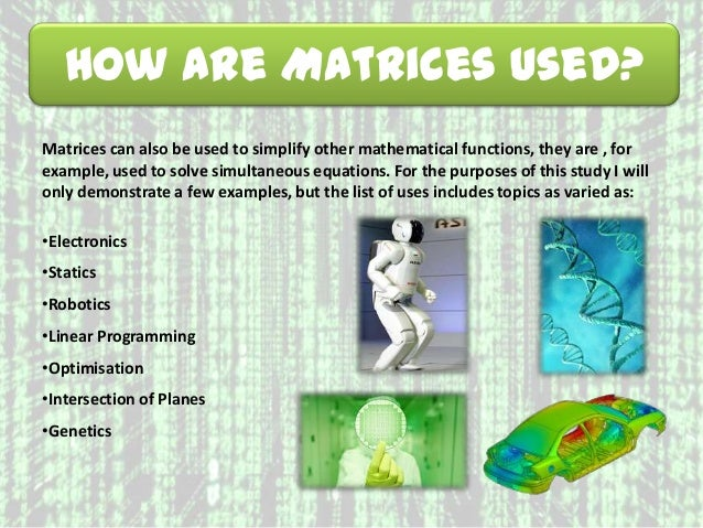 WCS Specialist Maths An Introduction to Matrices PowerPoint