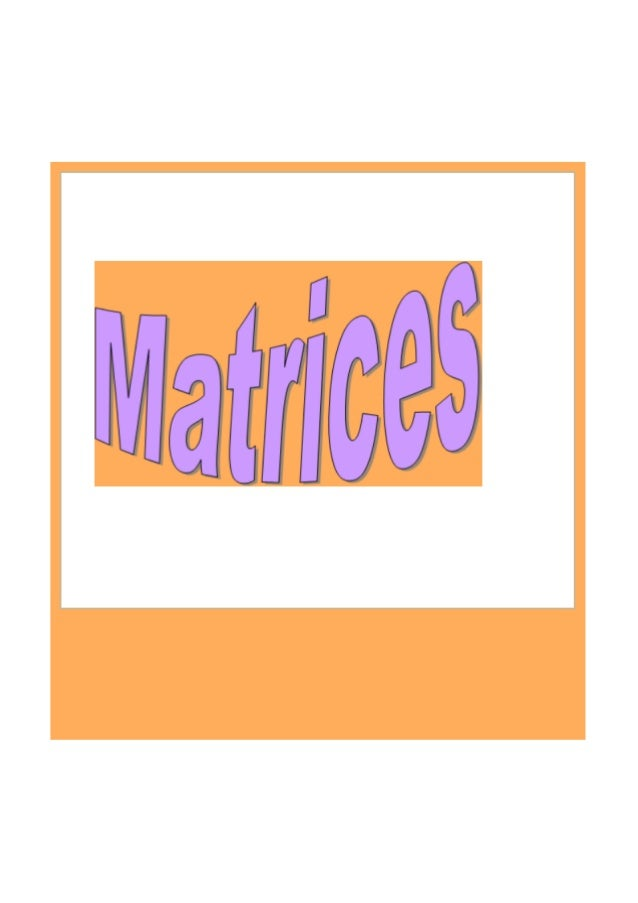 A matrix is an ordered set of numbers listed in rectangular form Matrix A has 2 rows and 3 columns. We say it is a 2x3 mat...