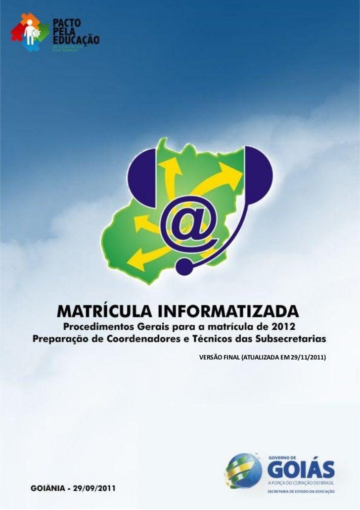 VERSÃO FINAL (ATUALIZADA EM 29/11/2011)