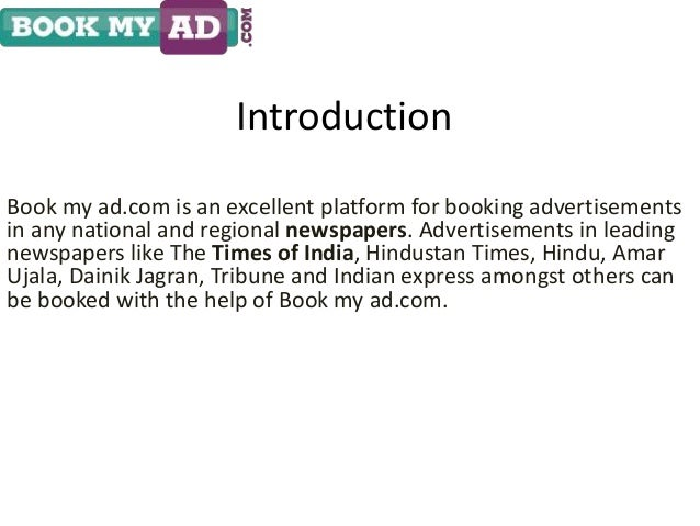 Book Matrimonial Classified Newspaper Ads in Times of India