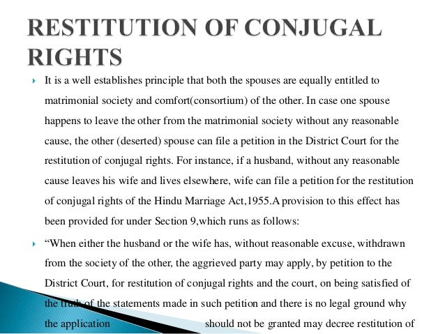 Matrimonial Remedies Under Hindu Marriage Act,1955 Slide 3