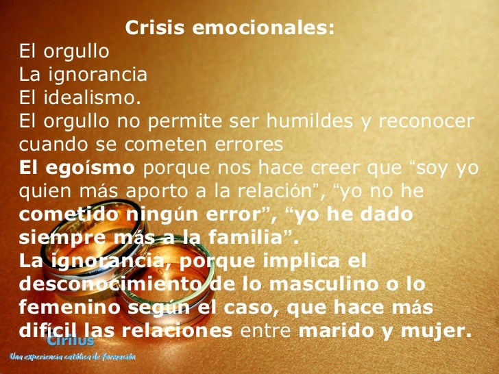 Matrimonio En Crisis Biblia : Matrimonios en crisis