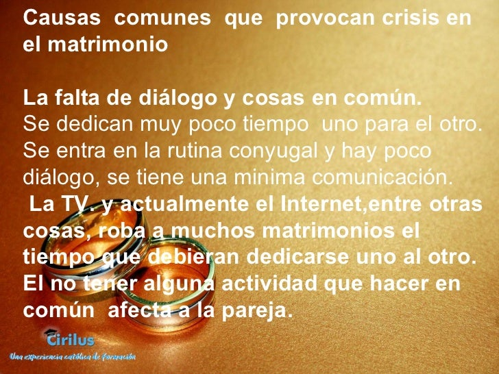 En El Matrimonio Catolico Hay Divorcio : Matrimonios en crisis