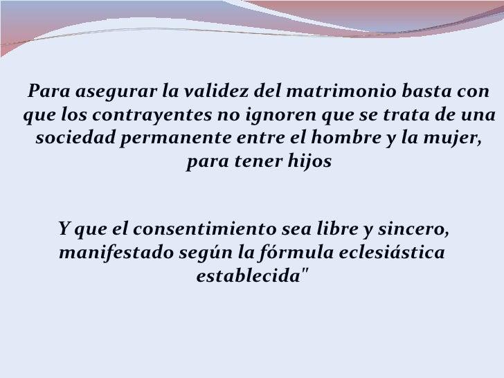 Consentimiento Matrimonial Catolico Formula : Matrimonio como sacramento