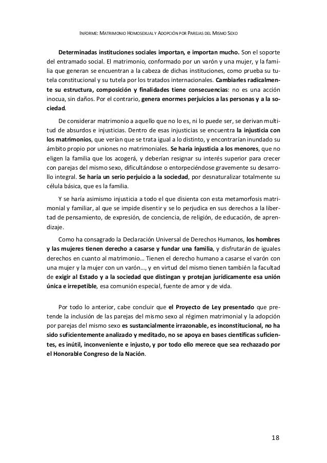 Causas y consecuencias del matrimonio homosexual