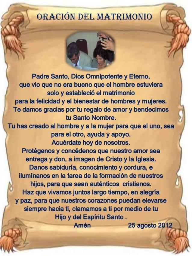 Oracion Para Matrimonio Catolico : Matrimonio