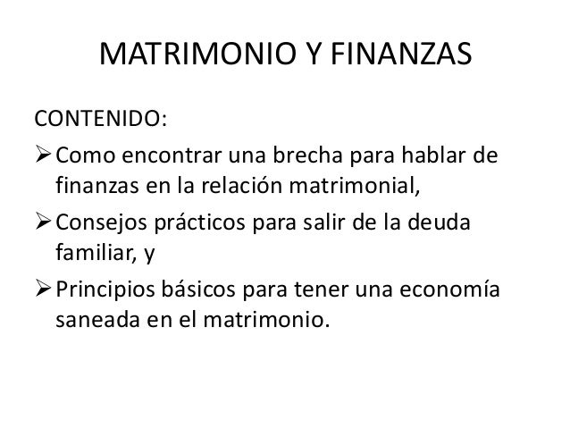 Finanzas Matrimonio Biblia : Como mejorar las finanzas en el matrimonio