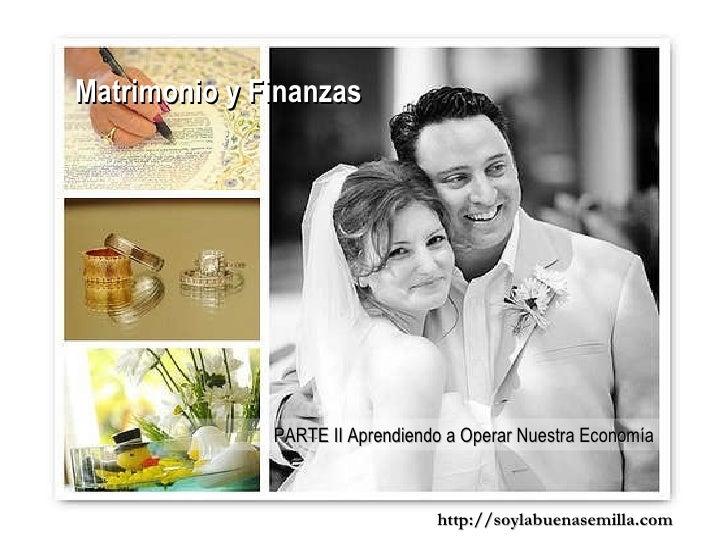 Finanzas Matrimonio Biblia : Matrimonio y finanzas ii aprendiendo a operar nuestra economía