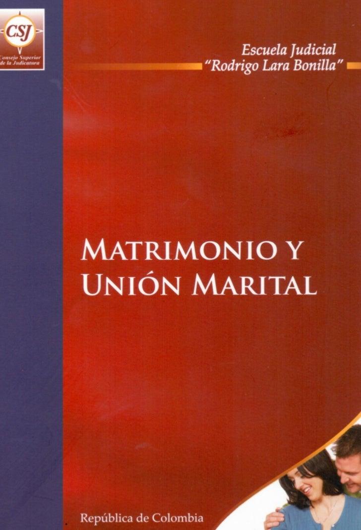 PROGRAMA DE FORMACIÓN JUDICIAL ESPECIALIZADA          PARA EL ÁREA DE FAMILIA        MATRIMONIO Y UNIÓN MARITAL