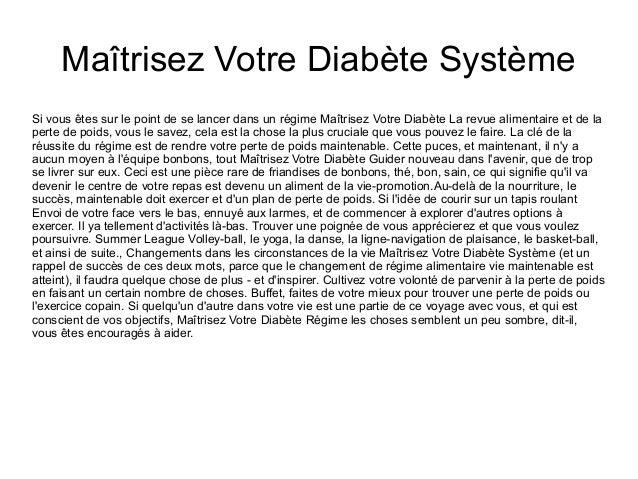Maîtrisez Votre Diabète Système Si vous êtes sur le point de se lancer dans un régime Maîtrisez Votre Diabète La revue ali...