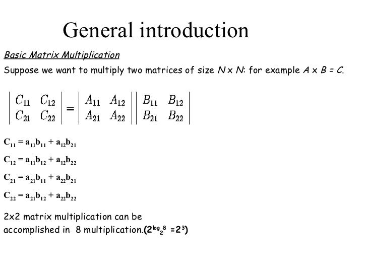 Matrix Multiplicationan Example Of Concurrent Programming