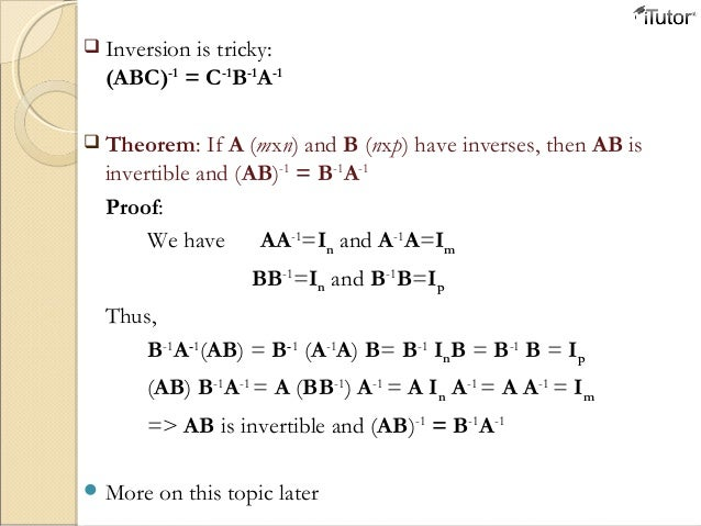 how to know if matrix is invertible