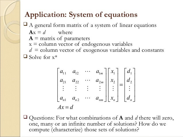 write a matrix vectorform