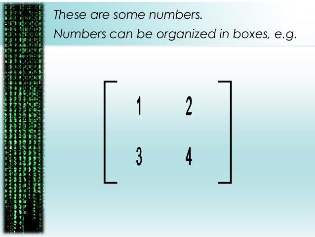 Matrix Algebra : Mathematics for Business